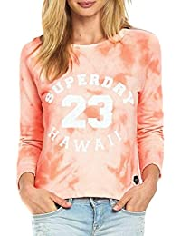 Sweat Superdry Washed Crop Crew Bird Of Paradise