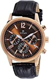 Titan Neo Analog Brass Dial Men's Watch-1734WL01