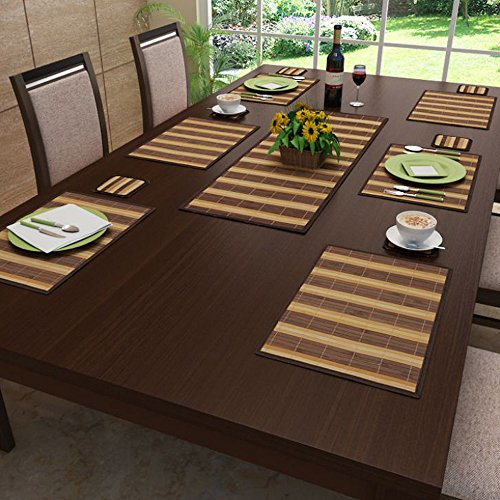 Freelance Bamboo Table Mats, Kitchen & Dining Placemats, Set of...