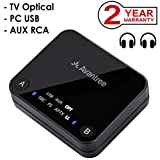 Avantree aptX Low Latency Bluetooth 4.2 Sender für 2 Kopfhörer, 30M Hohe REICHWEITE, Optical, RCA, 3,5mm Aux Klinke, USB Wireless Transmitter, Adapter Audio für PC - Audikast [2 Jahre Garantie]
