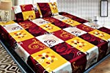 #6: Fashion Hub Grace Cotton King Size Double Bedsheet, 1 Bedsheet And 2 Pillow Covers