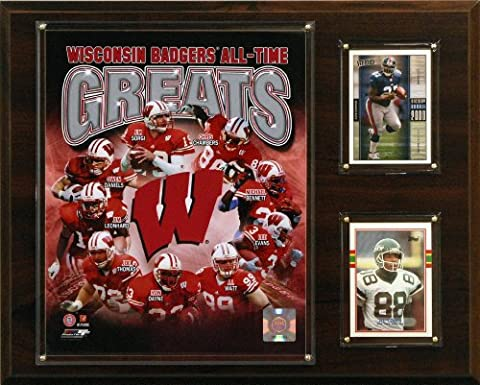 NCAA Football Wisconsin Badgers All-Time Greats Photo Plaque