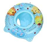Cloud Kids Baby Kleinkind Schwimmring Aufblasbarer Schwimmreifen mit Armlehnen Schwimmsitz Schwimmtrainer (Blau)