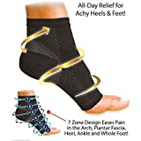 Skudgear Compression Sleeve Socks with Arch Support for Plantar Fasciitis Pain Relief, Heel Pain, and Treatment and Everyday Use, Free Size