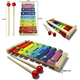 JJOnlineStore - FLASH SALES - Multi Colour Wooden Baby Kid Toddler Xylophone Toy Musical Instrument Educational Development Toys