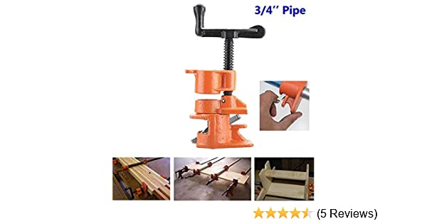 Protective Rate 1//2/3//4inch Pipe Clamp Set Cast Iron Heavy Duty Woodwork Carpenters Wood Glue Tool 1//2Inch