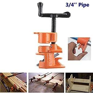 Carre Mark 1/23/4Inch cola para madera abrazadera de tubo set Hierro Fundido Heavy Duty Madera Edición Carpintería Herramienta, 3/4Inch