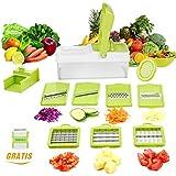 WEINAS Not Applicable, 10 in 1 Verstellbarer Mandoline Gemüseschneider Kartoffelschneider, Zerteilen Gemüse Obst Schnell und gleichmäßig, Multischneider, Gemüsehobel, Gemüseschäler, Gemüsereibe und Julienneschneider in 1 von WEINAS