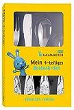 Kikaninchen Besteckset mit Prägung Edelstahl 4-teilig