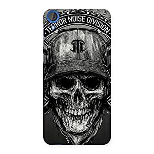Impressive Grey Skull Terr Back Case Cover for HTC Desire 820