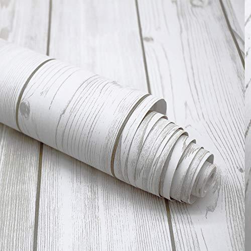 Selbstklebende Tapete, selbstklebende Tapete in Holzmaserung, Schlafzimmer-Wohnzimmer-Tapete, selbstklebende Aufkleber, einfache Holzmaserung 45 cm breit/pro Meter