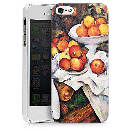 Apple iPhone X Silikon Hülle Case Schutzhülle Stillleben mit Äpfel und Orangen Obst Paul Cézanne Hard Case weiß