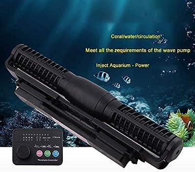 Shuaienfushi Aquarium Wave Maker, Pompe à Flux croisé avec écoulement Transversal avec contrôleur pour réservoir de Poissons Aquarium Wave Maker Pompe à Vagues Pompe de Brassage Wave Maker-CP55