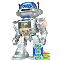 IQ Doctor The Radio Controlled Robot - Walks , Glides, Turns, Dances, Launches Frisbees with Sounds And Lights