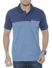 WEXFORD Men's Half Sleeves Striped Polo Tshirt Neck Cotton Tshirt Casual T-Shirt Branded Tshirt
