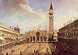 Il museo di uscita-Piazza San Marco [1] per Canaletto-Poster (61x 45,7cm)