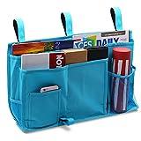 Startostar 8 bolsillo bolsa de almacenamiento para colgar organizador de noche para libros con...