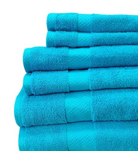 JC Penny Home-solid Badetücher-6-teiliges Handtuch Set Blau - Scuba Blue