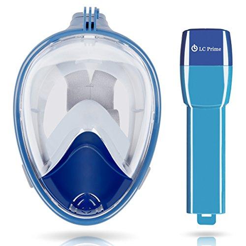 f680c9f63 Máscara de Snorkel Máscara de Buceo Gafas de Buceo Cara Completa de  Respiración Máscara con Visión ...
