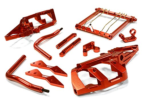Integy RC Model Hop-ups C26269RED Billet Machined Rear Shock Tower & Stabilizer Conversion Kit for Axial 1/10 - Rc-kit Yeti