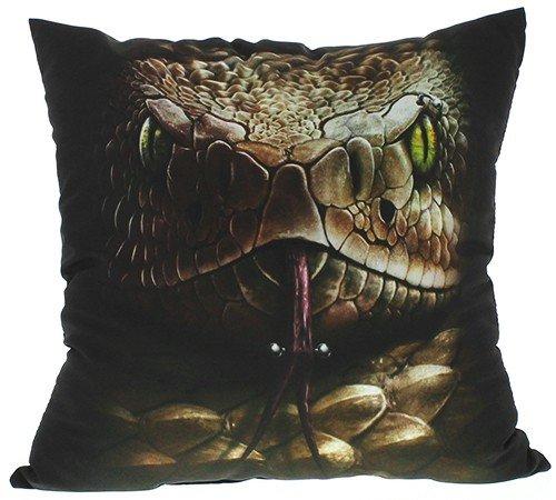 Spiral Snake Eyes cuscino decorativo nero, 100% poliestere, nero, Standard