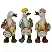 Complete Set of Davids Bathroom Message Ducks - Small - Set of 3