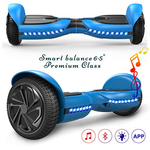 COLORWAY Smart Scooter Electronik Auto Balance Hoverboard 6,5 Zoll Self-Balance mit Bluetooth & LED Self Balance E-Skateboard