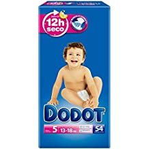 Dodot - Pañales talla 5 (13-18 kg), 3 Paquetes x 54:162 unidades