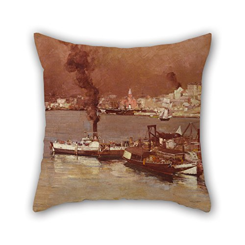 Slimmingpiggy The Oil Painting Tom Roberts - An Autumn Morning, Milson's Point, Sydney Pillowcase Of,16 X 16 Inches/40 By 40 Cm Decoration,gift For Girls,son,floor,deck Chair,home Office,office (