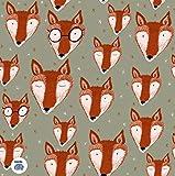 Lillestoff Oswald Fuchs Fox NEU Jersey Bio *** 50 cm x 150