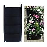 MEIWO 4 Pocket Hängende Vertikal Garten-Wand-Pflanzer für Yard Garden Home Decoration