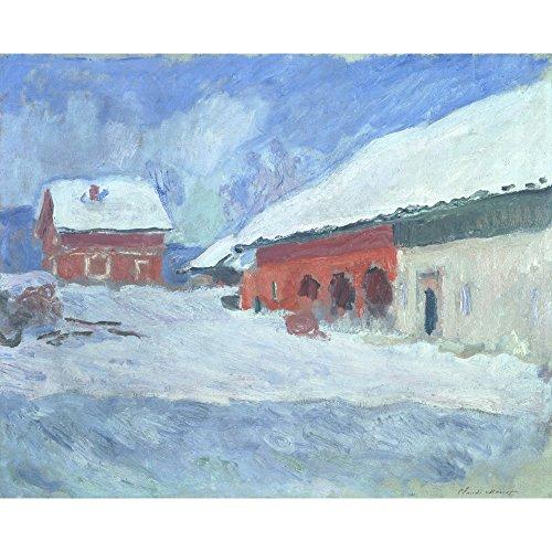 Les maisons Rouges à Bjoernegaard, Norvege, Claude Monet - Medici Drucken