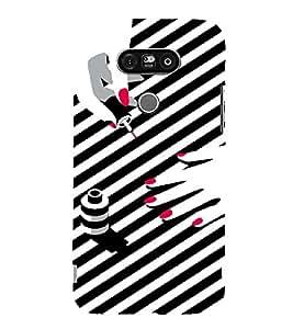 PrintVisa Fashion Nail Art Design 3D Hard Polycarbonate Designer Back Case Cover for LG G5