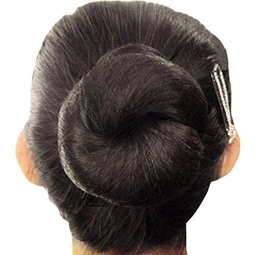 Filets Lot Of Hair Nets, invisible, élastique, 50 cm, pour arrêter les cheveux noir black 10pcs