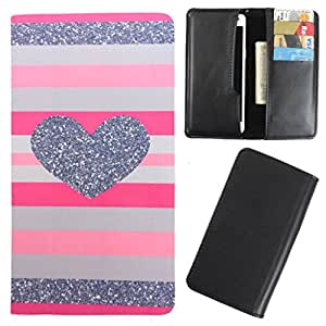 DooDa - For Panasonic P55 Novo PU Leather Designer Fashionable Fancy Case Cover Pouch With Card & Cash Slots & Smooth Inner Velvet
