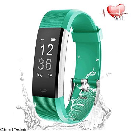 Fitness Tracker,Smart Bracelet mit Pulsmesser Herzfrequenzmesser,Aktivitätstracker,Schrittzähler,SchlafMonitor,Treppen Zähler,Kalorienzähler Fitness Uhr für Android und IOS Smartphones(Grün)