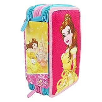 Seven Disney La bella e la Bestia Estuche Escolar Làpices de colores Plumier Triple para Ninos