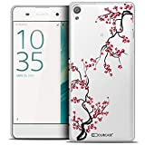 Caseink - Coque Housse Etui pour Sony Xperia XA [Crystal Rigide HD Collection Summer Design Sakura - Rigide - Ultra Fin - Imprimé en France]