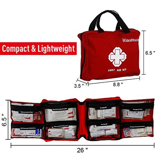 Mounchain Erste Hilfe Set, 148 -teilig Erste Hilfe Koffer, Erste Hilfe Kasten, Erste Hilfe Tasche für Haus, Auto, Camping, Jagd, Reisen, Natur und Sport (Reißverschluss)