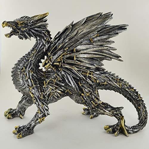 Prezentscom Schwert Drache Skulptur unglaublich detailliert Altar Ornament für Fantasy & Magic Fans