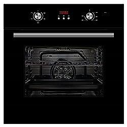 Cookology Black Built-in Electric Single Fan Oven & Clock | COF605BK