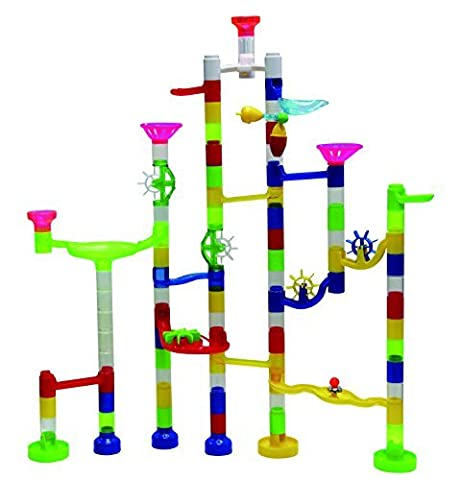 Marbulous Transparent In The Dark Marble Run - 105 Piece