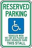 fhdnagfds Schilder fra215ra engineer-grade Reflektierende Aluminium Behinderte Parken Schild (Wisconsin), Legend vorbehalten, Fahrzeuge mit Tierarzt oder DIS Teller oder State Behinderte Karte dieser Stall mit Graphic, 18Länge x 12breite, grün/blau auf weiß