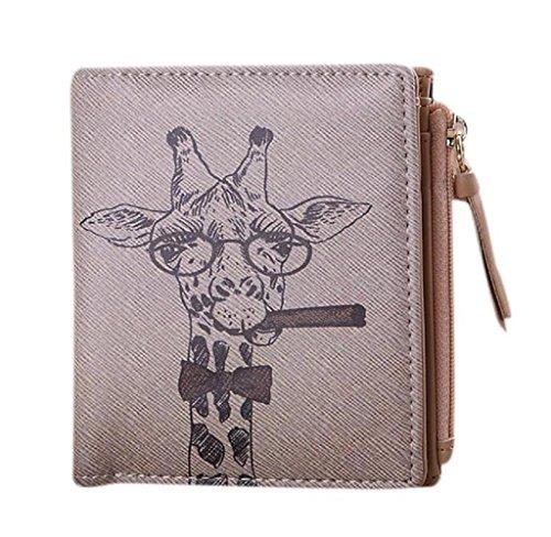 Neopren-klammer (Covermason Damen Geldbörse Jahrgang Giraffe Münze Klammer Geldbörse Kurz Brieftasche Kupplung Handtasche)