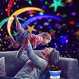 Projektor Lampe, Omitium LED Sternenhimmel Projektor Nachtlicht 360°Drehbare Kinder Lampe, Einschlafhilfe mit Farbspiel, Perfekt für Kinderzimmer, Schlafzimmer, Geburtstag, Parteien, Weihnachten - 2