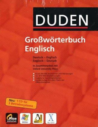 Duden-Oxford - Großwörterbuch Englisch (Office-Bibliothek) CD-ROM (WIN/MAC OS X/LINUX)