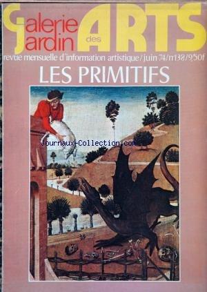 GALERIE JARDIN DES ARTS [No 138] du 01/06/1974 par  COLLECTIF