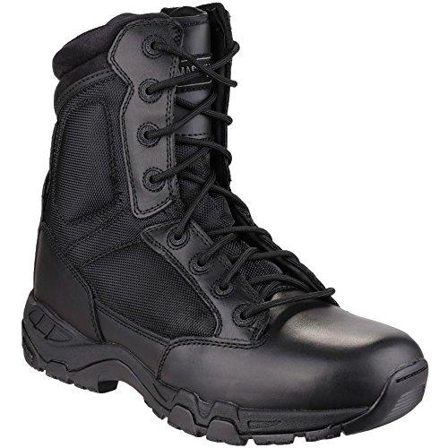 "Magnum Mens Magnum Viper Pro 8"" Side Zip Leather Patrol Boot Black Black"