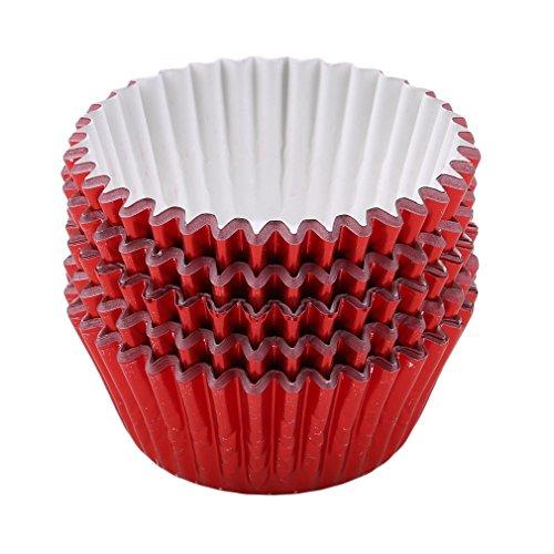 Timetries 100 Stück Cupcake Wrappers Liners Backbecher Form Papier Muffinförmchen Kuchenverpackung für Hochzeit Geburtstag Party Kuchen Dekoration ()