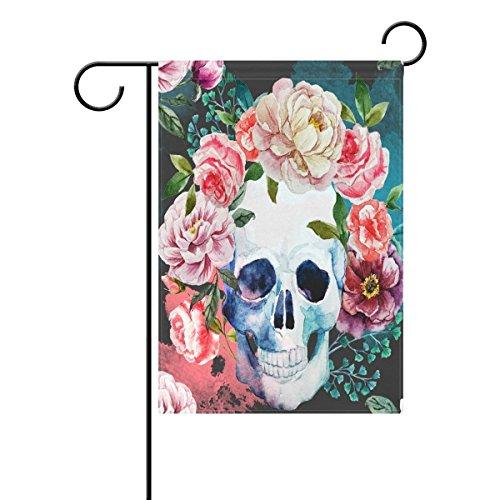 kull Dekorative Garten Flagge Polyester für Home Garten Decor (Sugar Skull-fahne)
